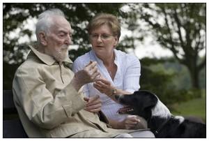 ZorgDier bezoekt man met Alzheimer